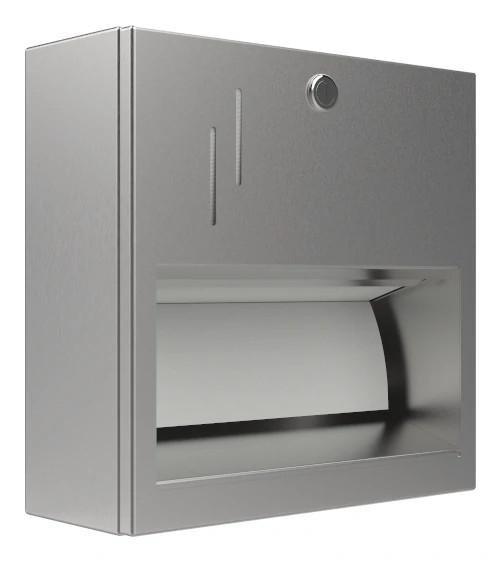 Papierhandtuchspender 9120201 für 250 Papierhandtücher AP/UP