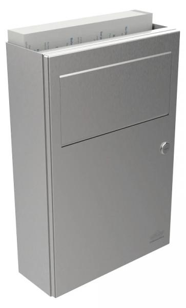 Hygiene-Abfallbehälter 9110105 mit Einwurfklappe und Papiertüten-Hygienefach