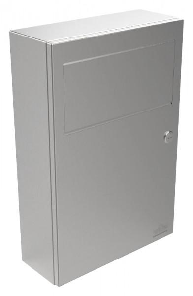 Edelstahl Hygiene-Abfallbehälter mit selbstschließender Einwurfklappe