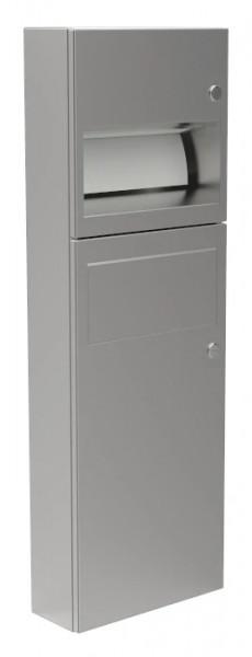 Papierhandtuchspender/Abfallbehälter-Kombination 9124103 - Zylinderschloss