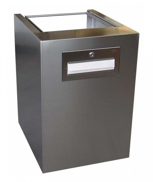 Abfallbehälter/Papierhandtuchspender-Kombination als ausfahrbarer Container