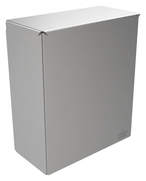 Abfallbehälter 9100SA1D Sirius II mit Deckel zur verdeckten Wandmontage