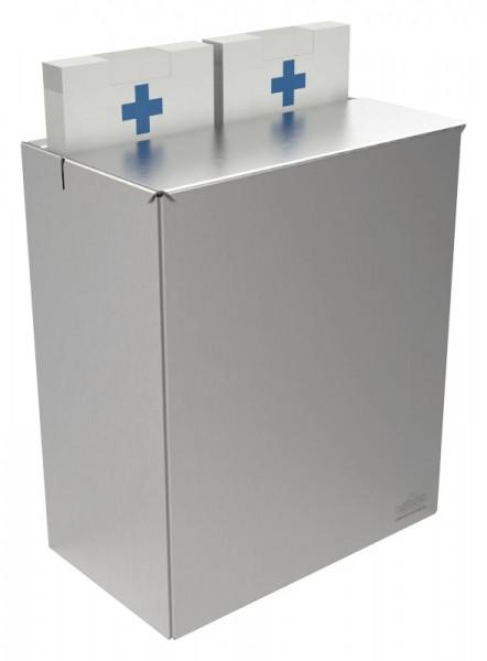 Edelstahl Hygiene-Abfallbehälter 9110101 mit Aufnahmefächern für Papier-Hygienebeutel