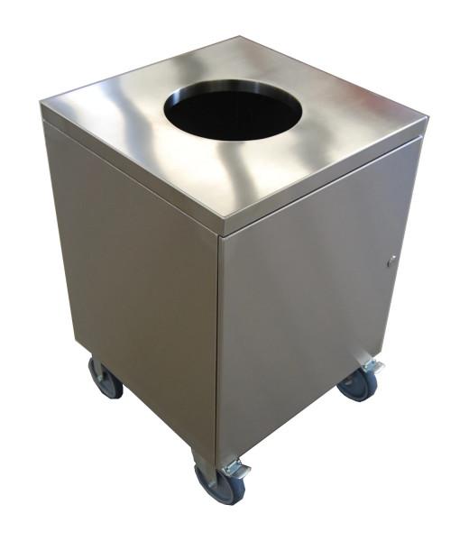 Abfall-Containerschrank mit Rollen