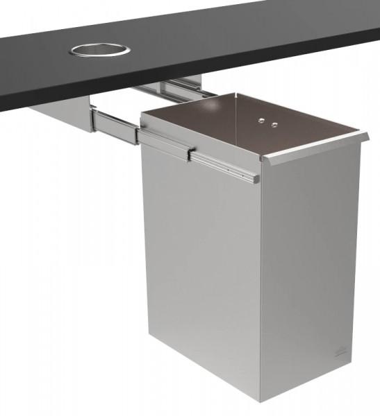 Abfallbehälter 9100400-2 mit Vollauszug zur Untertischmontage - offen